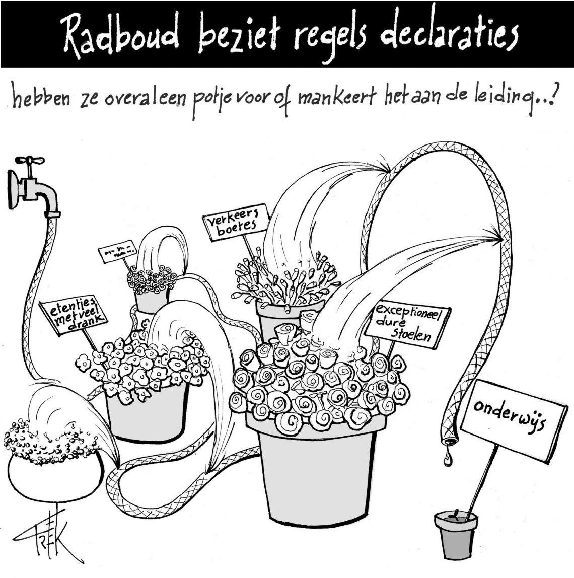 Radboud beziet regels declaraties